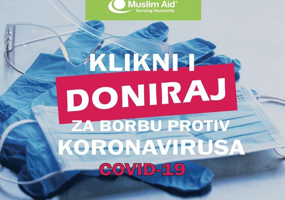 Muslim Aid: Klikni i doniraj za borbu protiv koronavirusa