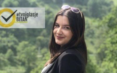 Nejra Šišić: Ambasadorka kampanje #TvojGlasJeBitan za Zenicu