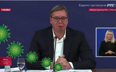 Koronavirus počeo da napušta Srbiju kada je vidio Vučićeve suze, muške, najteže