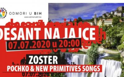 """""""Desant na Jajce"""": Ispod Plivskog vodopada nastupaju Zoster i Pochko & New Primitives"""