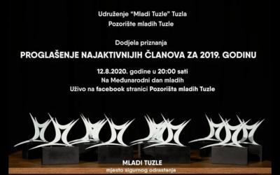 Pozorište mladih Tuzle organizuje live prenos dodjele godišnjih priznanja