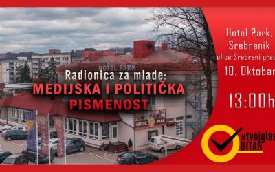 PRIJAVI SE – Radionica za mlade: Medijska i politička pismenost